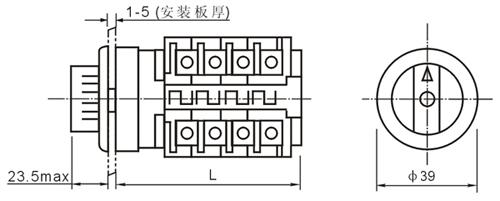 供应lw8y型方面板万能转换开关生产厂家