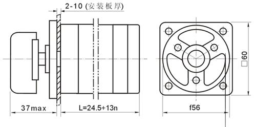 首页 电子元器件 开关 转换开关(组合开关) 供应lw6定位型转换开关